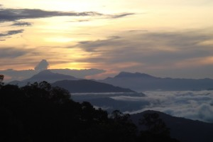 View over Sabah mountains. Photo: Ling Low.