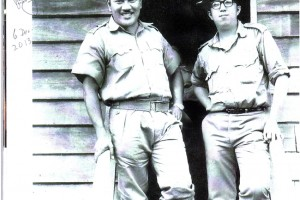 P Ramlee with Ooi Eow Jin, early 1960's.