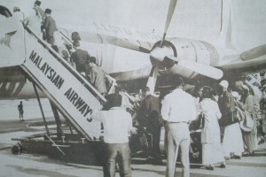 A photo of Malaysian Airways circa 1960's. Image sourced from http://malaysiaflyingherald.wordpress.com.