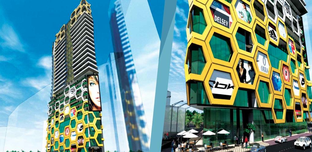 A mock-up of the future M101 Bukit Bintang building.