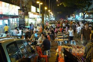 Jalan Alor, now officially Jalan Kejora. Photo by John Walker, Creative Commons Attribution License.