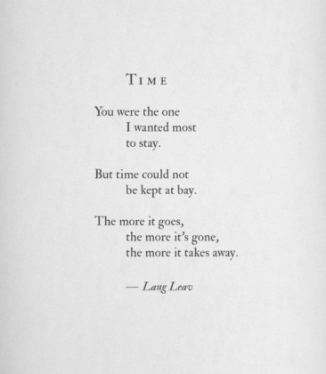 A poem by Lang Leav, as posted on her Tumblr.